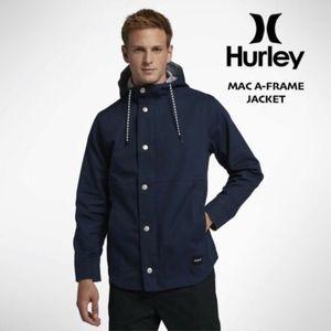Hurley Men's Mac A Frame Full-Zip Cotton Jacket